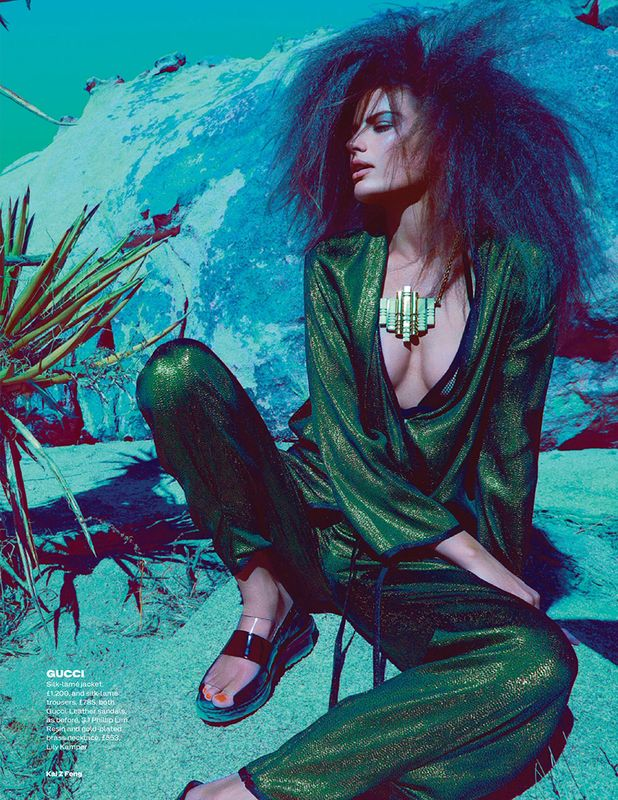 Cameron Russell by Kai Z Feng for UK Elle 4