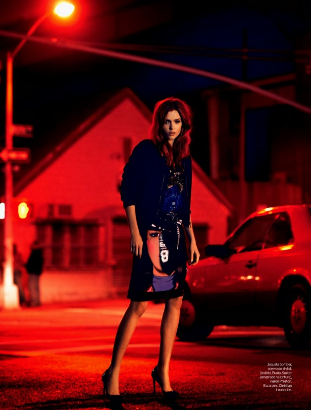 Josephine Skriver by Nicole Heiniger (Night Vision - Elle Brazil January 2014) 1