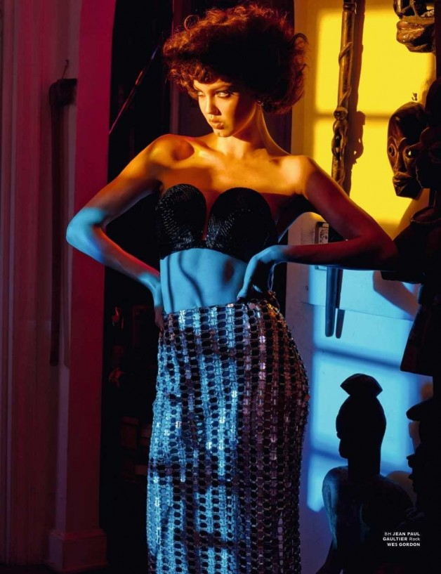 Lindsey Wixson in 'Light, Camera, Action' By Sebastian Faena For Interview Germany 14