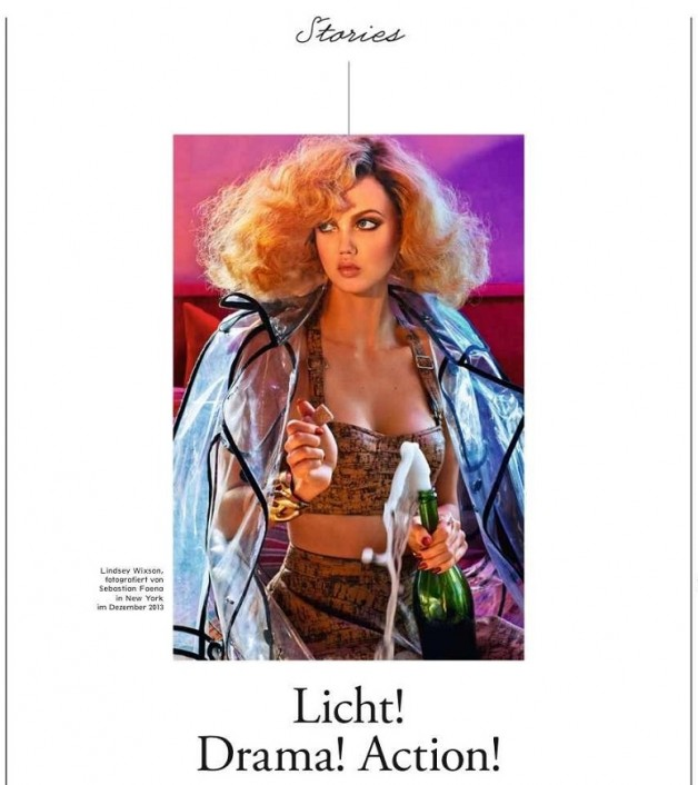 Lindsey Wixson in 'Light, Camera, Action' By Sebastian Faena For Interview Germany 6