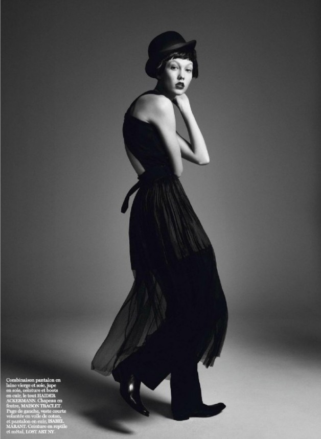 Karlie Kloss by david Sims vogue Paris