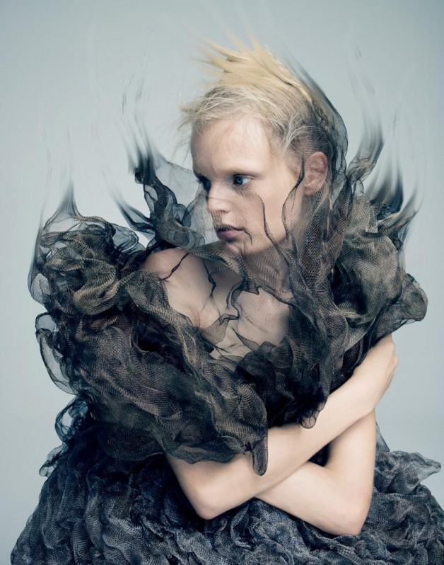 Hanne Gaby Odiele in 'A Magazine'