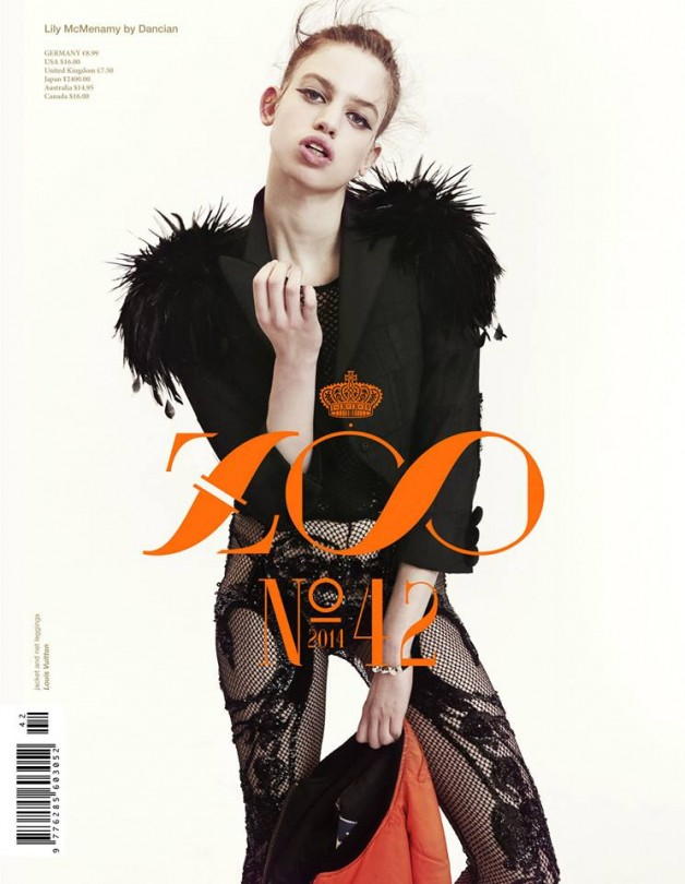 Lily McMenamy by Dancian for Zoo Cover 1