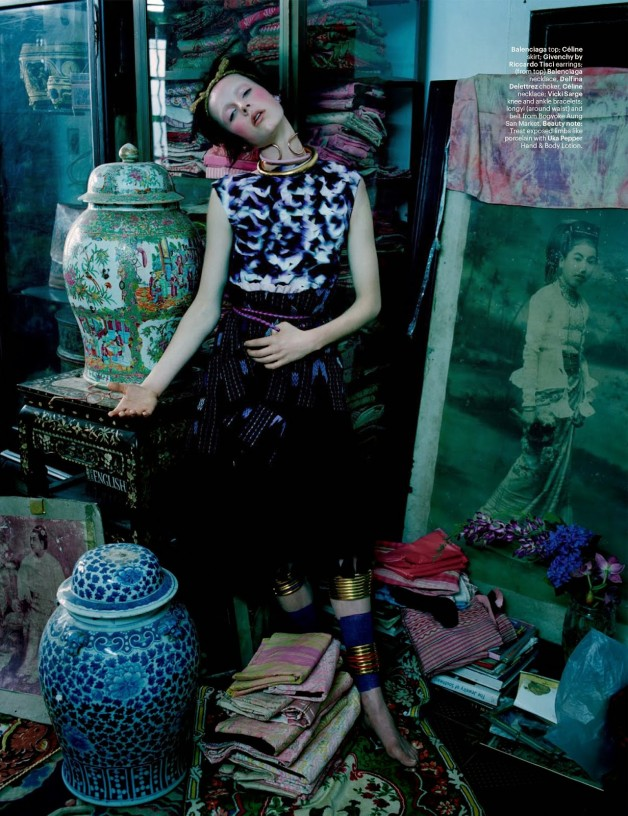 Edie Campbell in 'Gilt Trip' by Tim Walker W Magazine 11