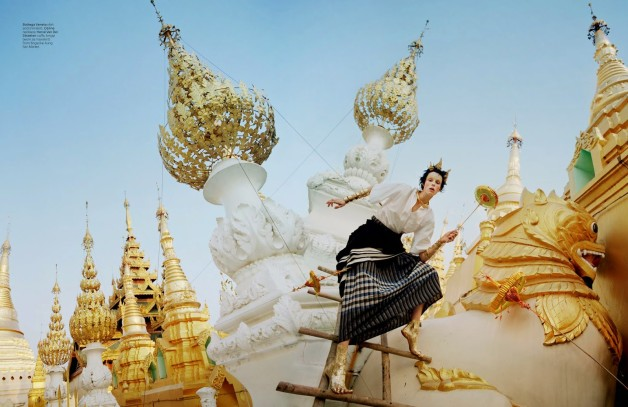 Edie Campbell in 'Gilt Trip' by Tim Walker W Magazine 22