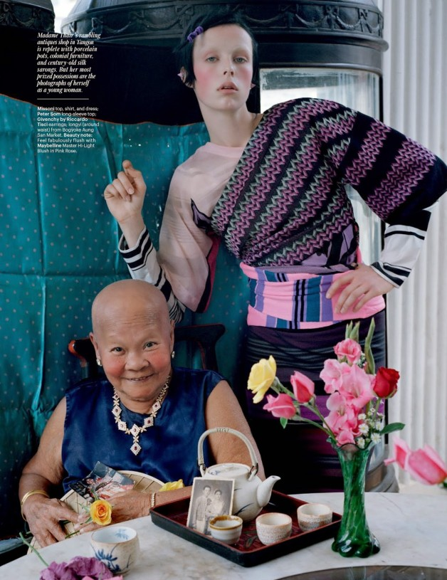 Edie Campbell in 'Gilt Trip' by Tim Walker W Magazine 25
