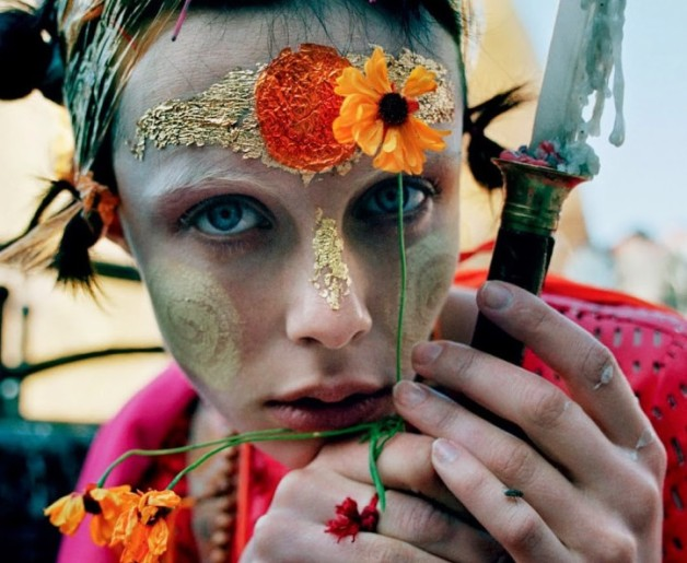 Edie Campbell in 'Gilt Trip' by Tim Walker W Magazine oo12