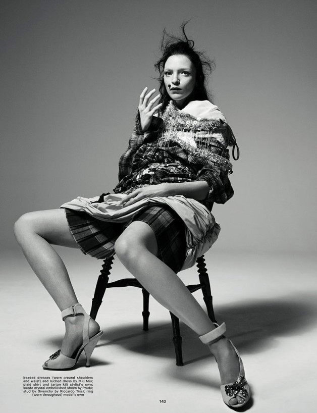 Mariacarla Boscono by Willy Vanderperre for Dazed & Confused .