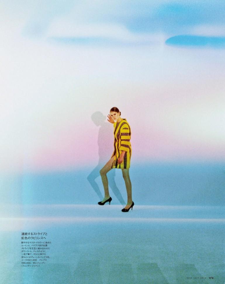 Josefien Rodermans in 'Geometric Dream' By Jiro Konami For Elle Japan 10