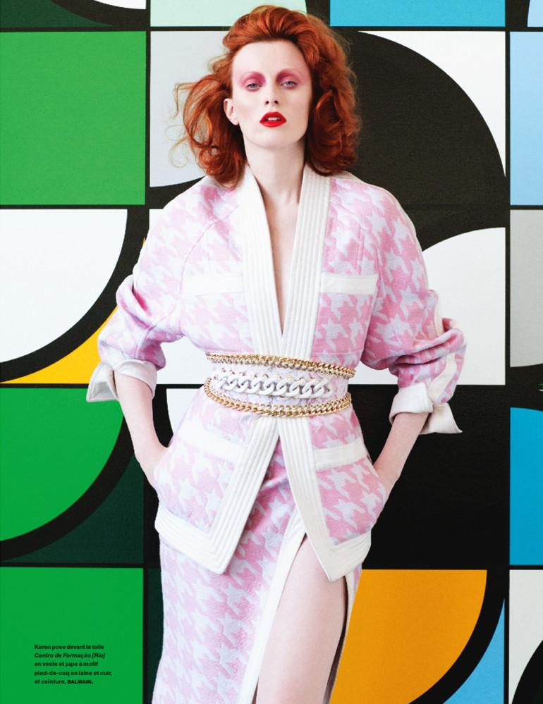 Karen Elson 'Sarah Morris' By Victor Demarchelier For Numéro #154 1