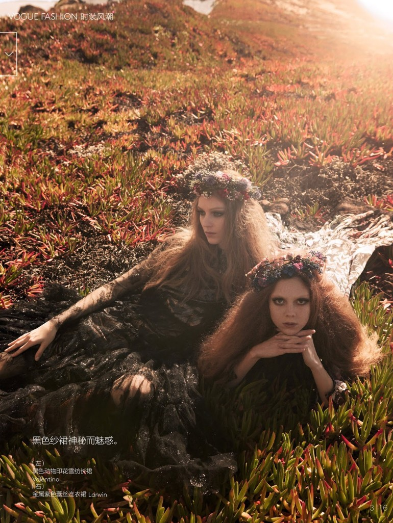 Kati Nescher And Natalie Westling By Mikael Jansson For Vogue China 2