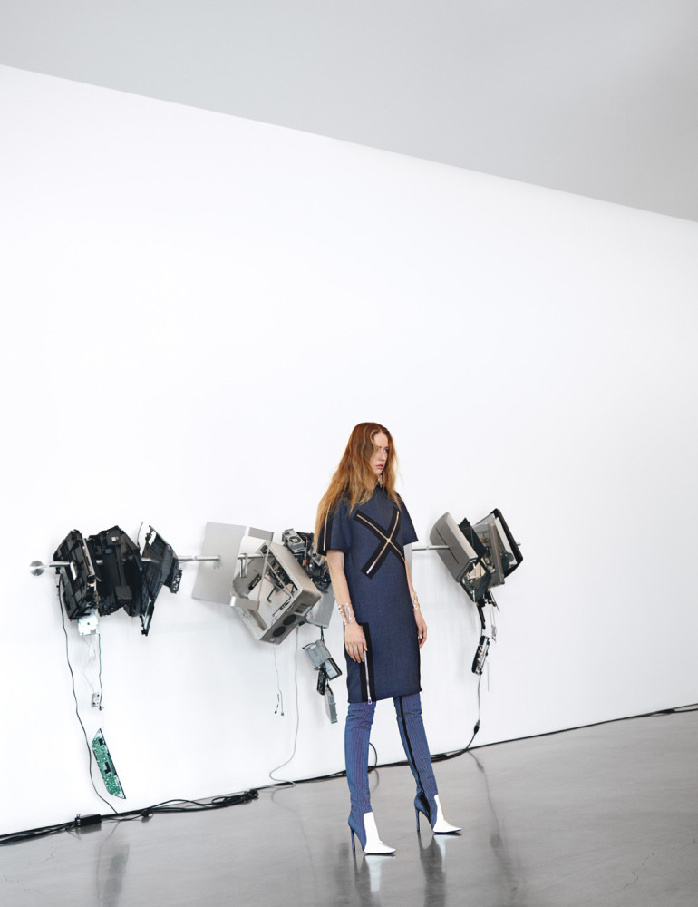 Raquel Zimmermann in 'Art Walk' by Willy Vanderperre For W 30