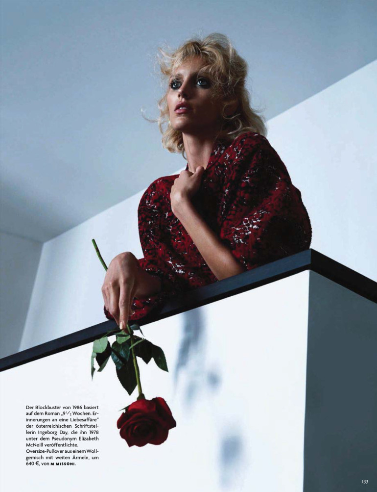 Anja Rubik 'Passion' by Camilla Akrans For Vogue Germany 2