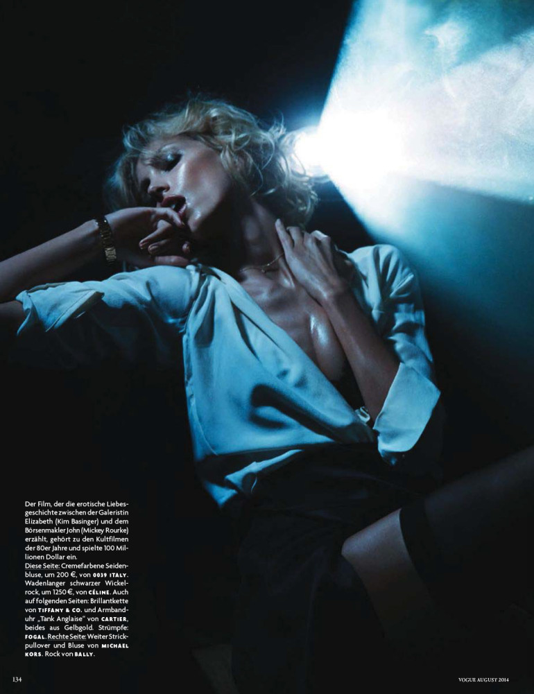 Anja Rubik 'Passion' by Camilla Akrans For Vogue Germany 3