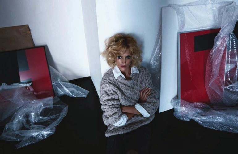 Anja Rubik 'Passion' by Camilla Akrans For Vogue Germany 5