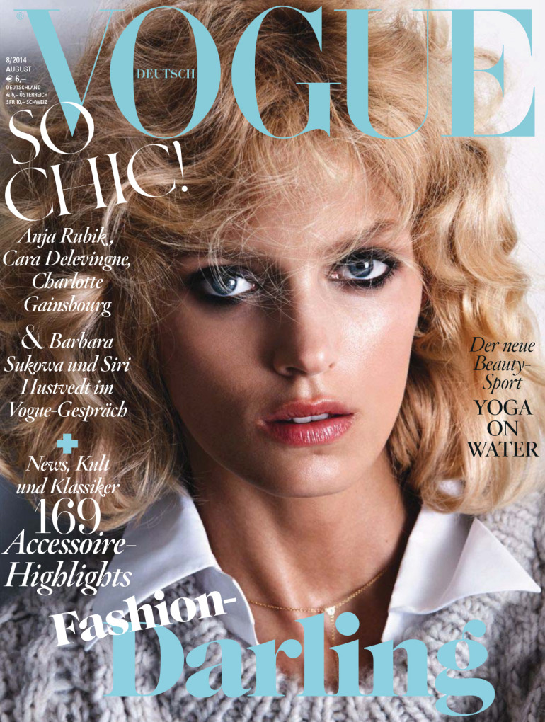 Anja Rubik 'Passion' by Camilla Akrans For Vogue Germany Cover