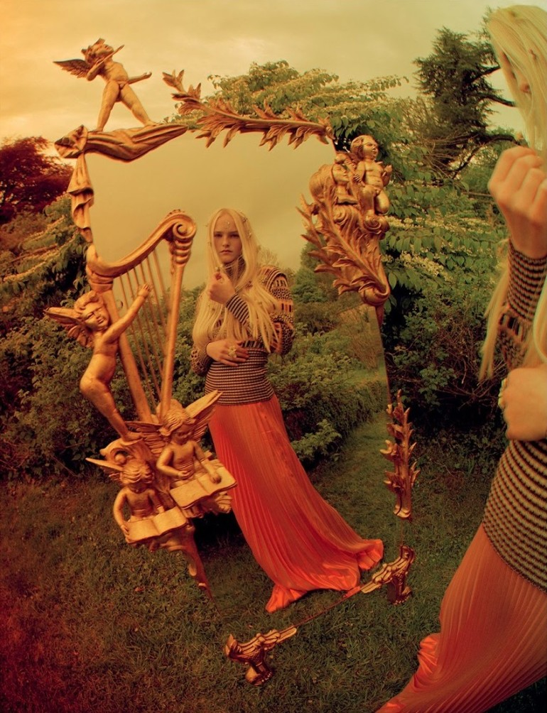 Edie Campbell & Kate Moss 'Wizard' by Tim Walker for Love 20