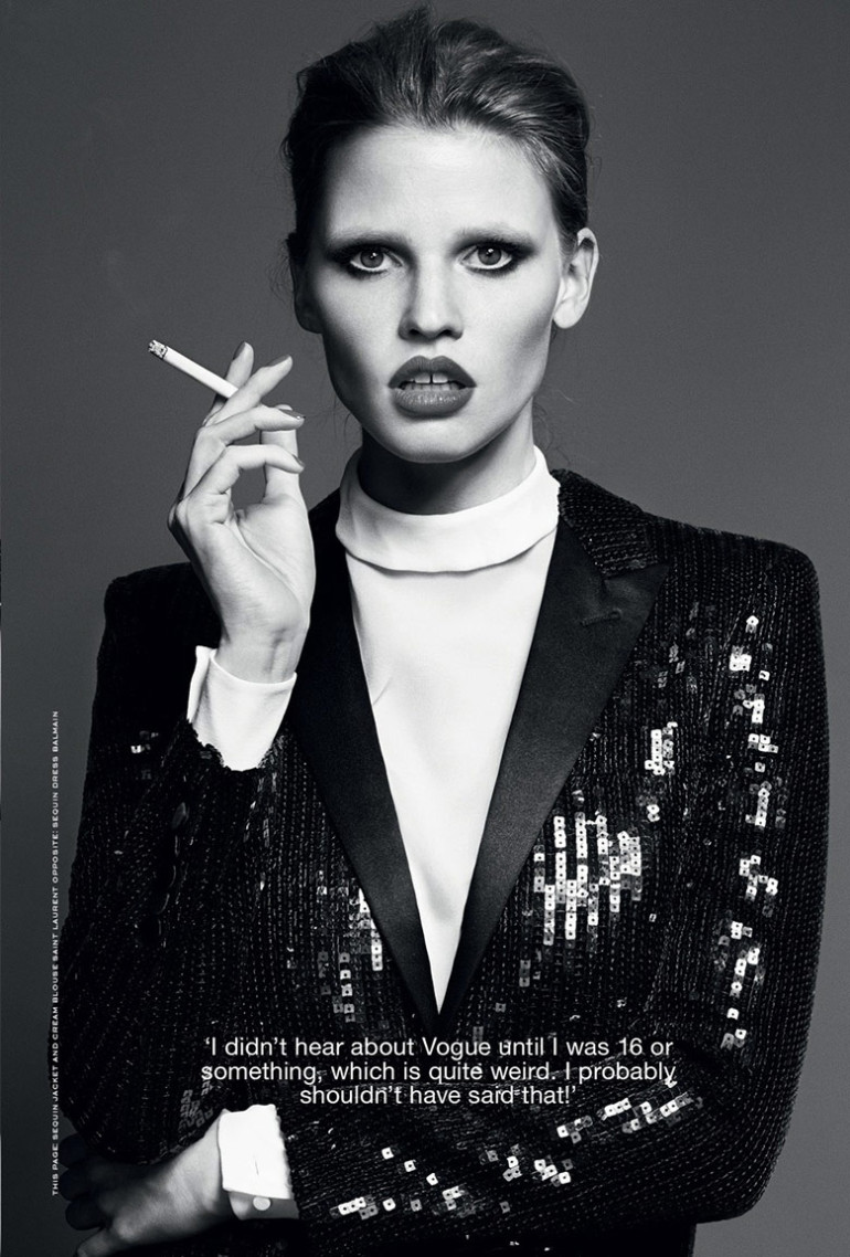 Lara Stone by Erik Torsensson for Industrie #7 10