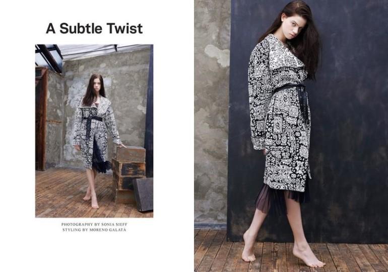 Lily McMenamy 'A Subtle Twist' by Sonia Sieff Lurve Magazine 4