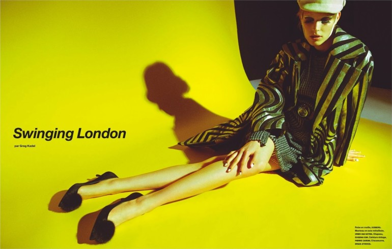 Alisa Ahmann is 'Swinging London' Greg Kadel for Numero 2