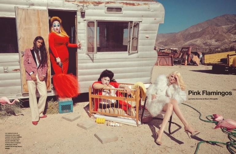 Auguste Abeliunaite 'Pink Flamingo' By Sofia Sanchez & Mauro Mongiello For Numéro #156