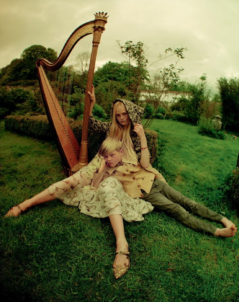 Edie Campbell & Kate Moss 'Wizard' by Tim Walker for Love 2