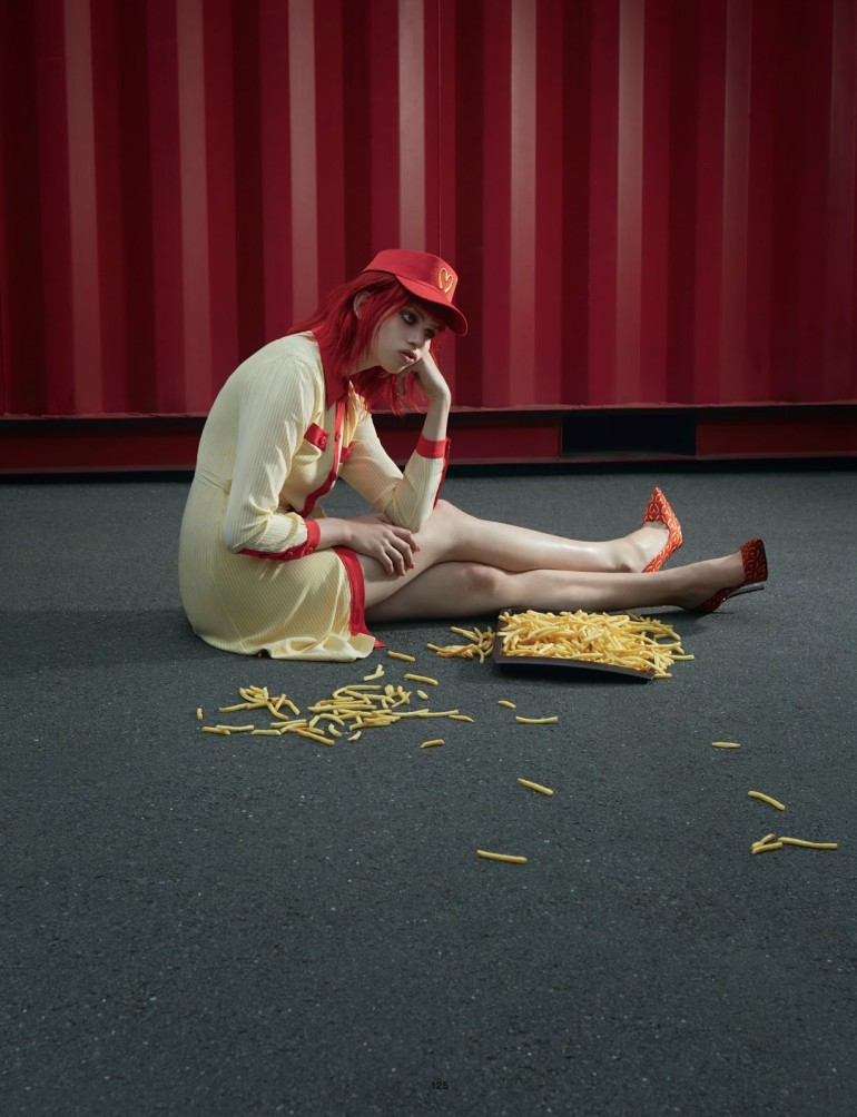 Lily Mcmeanmy 'Supersize Me' Blommers & Schumm for Dazed & Confused 5