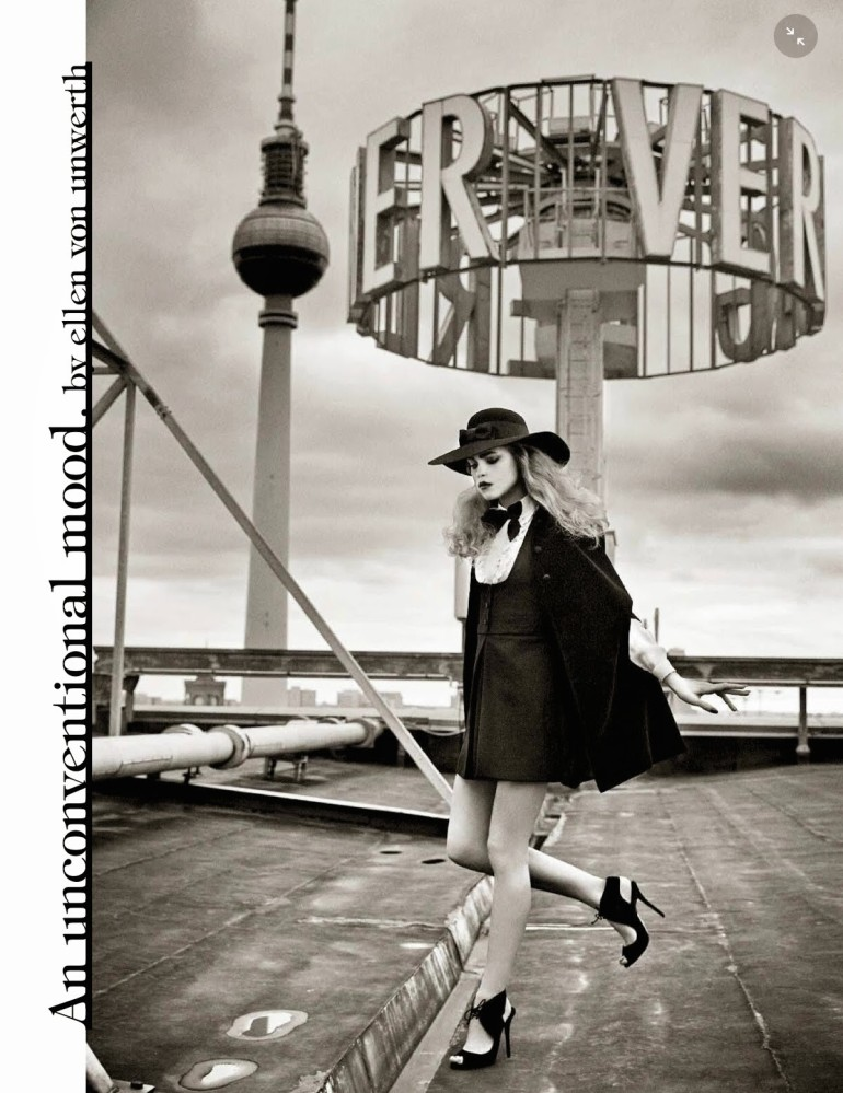 Line Brems 'An Unconventional Mood' Ellen Von Unwerth For Vogue Italia