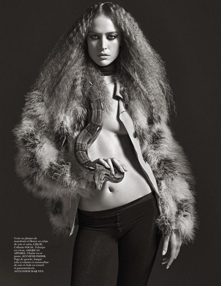 Raquel Zimmermann 'Nouvelle Eve' By Mario Sorrenti For Vogue Paris 16