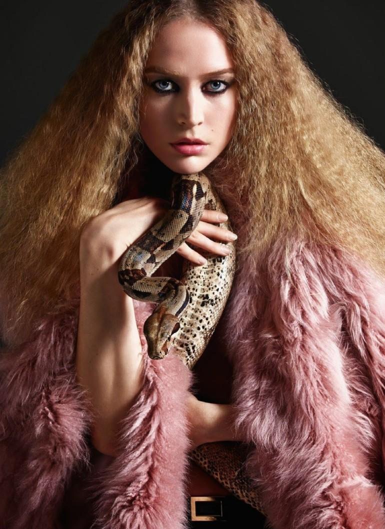 Raquel Zimmermann 'Nouvelle Eve' By Mario Sorrenti For Vogue Paris