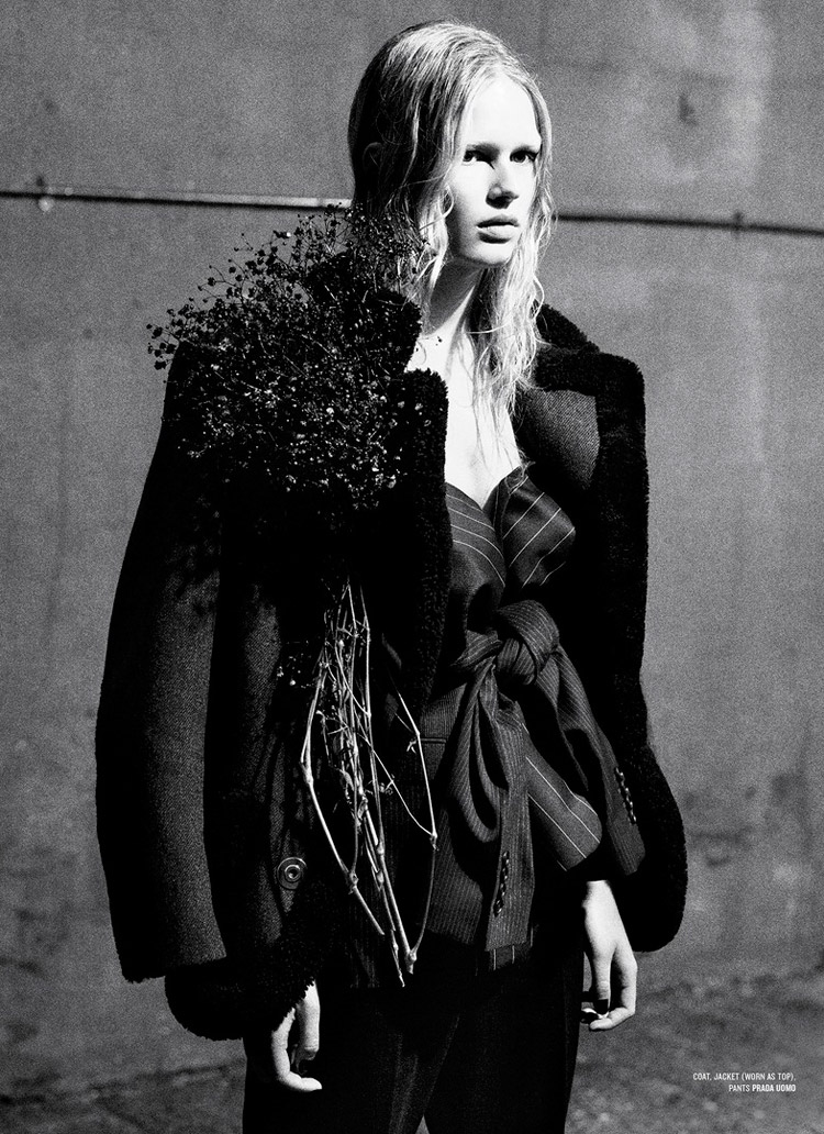 Anna Ewers 'Rebel Flower' Willy Vanderperre for V Magazine 6