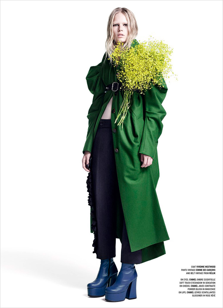 Anna Ewers 'Rebel Flower' Willy Vanderperre for V Magazine 7