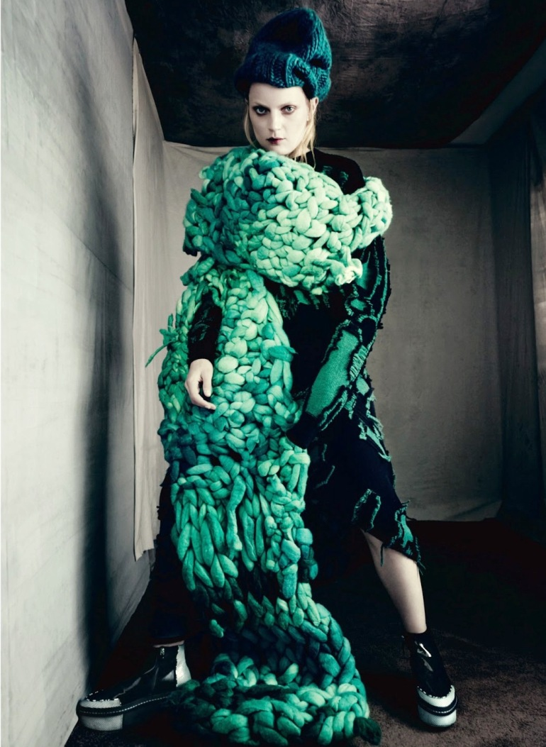 Guinevere Van Seenus in 'Pins & Needles' by Paolo Roversi for Dazed & Confused 1