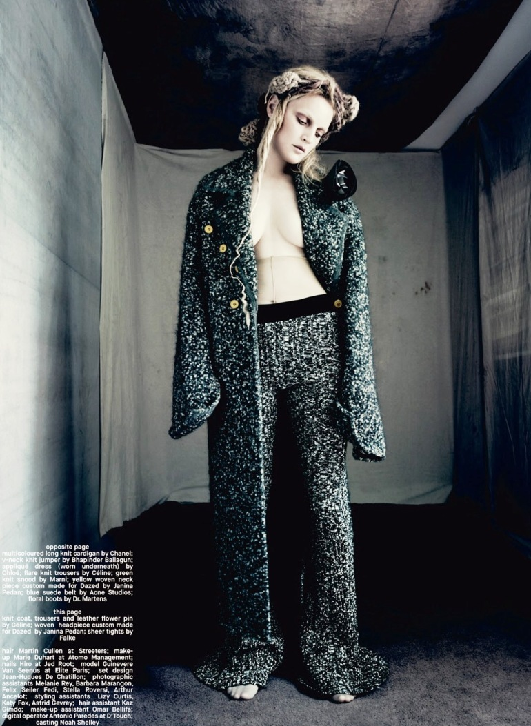 Guinevere Van Seenus in 'Pins & Needles' by Paolo Roversi for Dazed & Confused 15