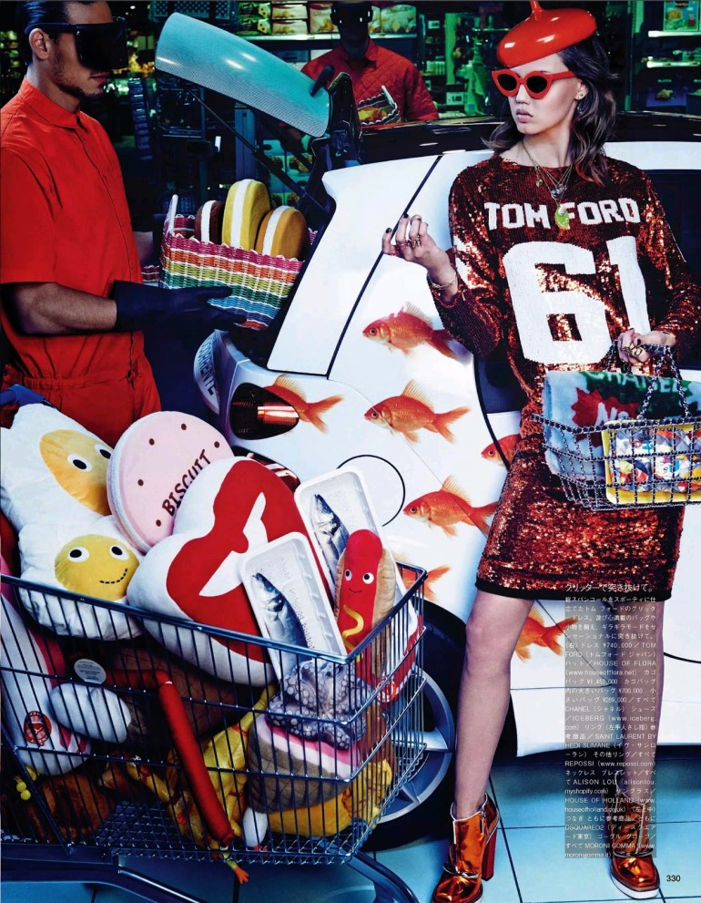 Lindsey Wixson & Hanne Gaby Odiele 'My Market Day' By Giampaolo Sgura For Vogue Japan 15