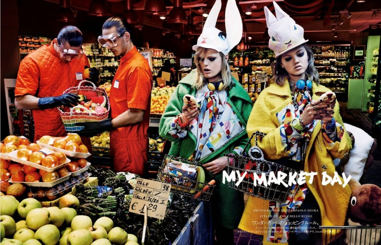 Lindsey Wixson & Hanne Gaby Odiele 'My Market Day' By Giampaolo Sgura For Vogue Japan