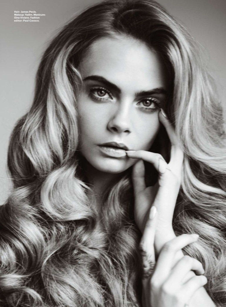 cara delevingne in  u2018best of beauty u2019 by mario testino for