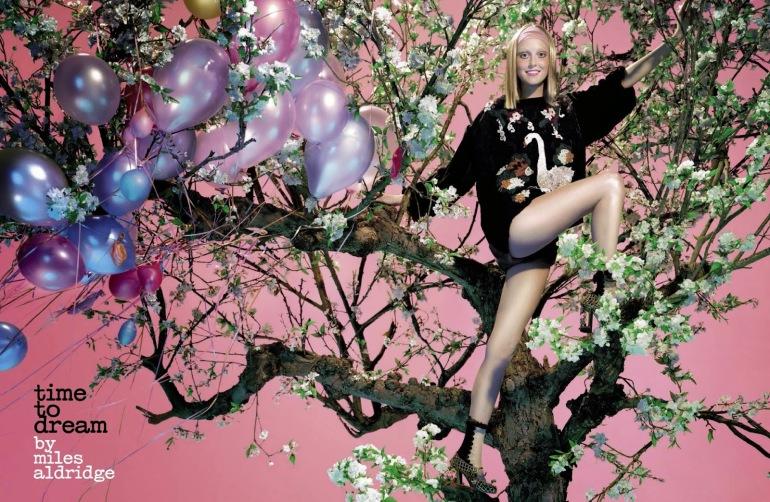 Frances Coombe by Miles Aldridge for Vogue Italia 2