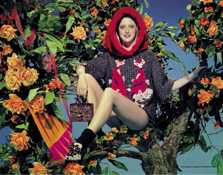 Frances Coombe by Miles Aldridge for Vogue Italia 7