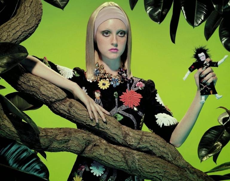 Frances Coombe by Miles Aldridge for Vogue Italia