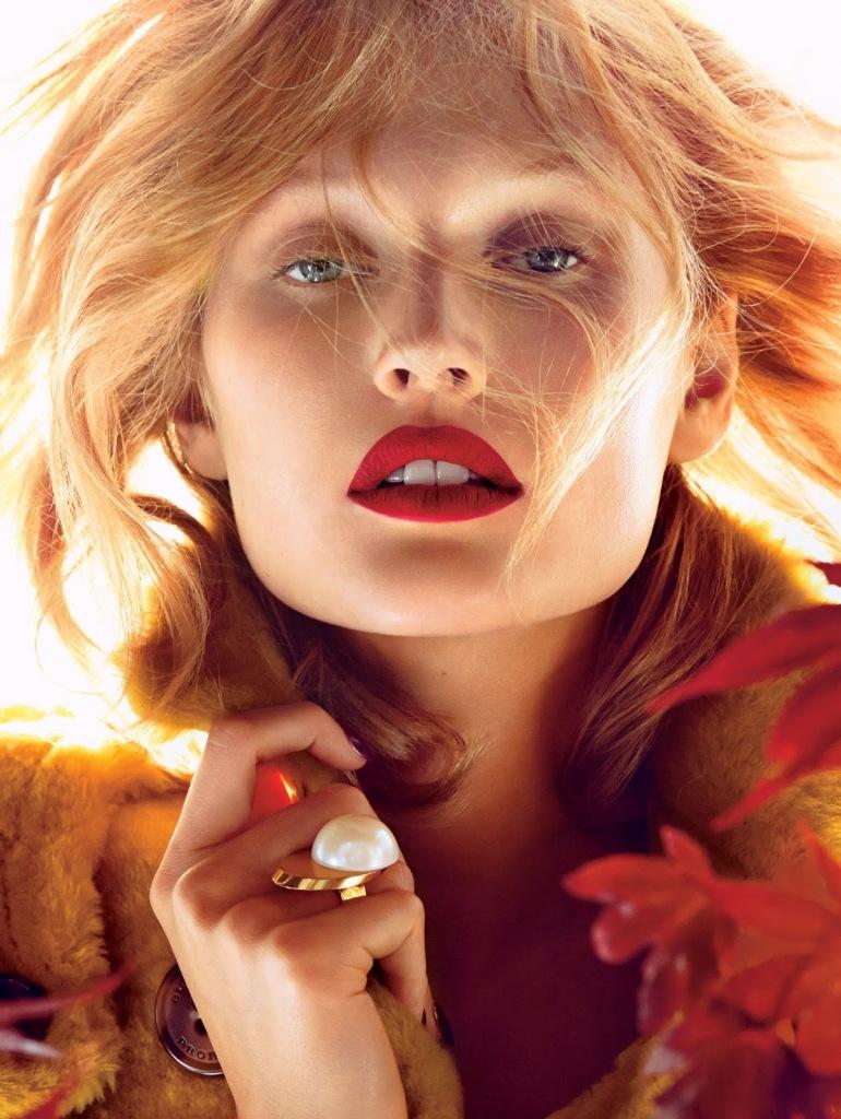 Toni Garrn by Camilla Akrans for Allure Magazine November 1