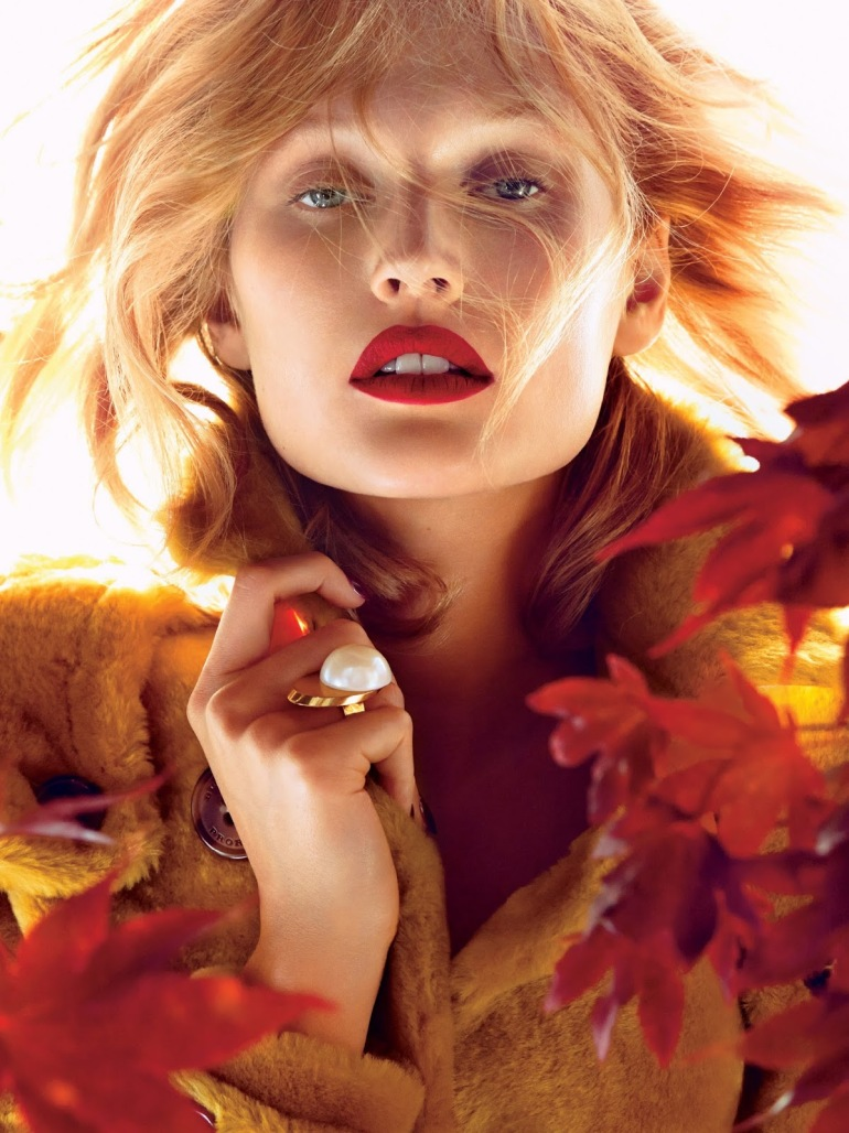 Toni Garrn by Camilla Akrans for Allure Magazine November 6