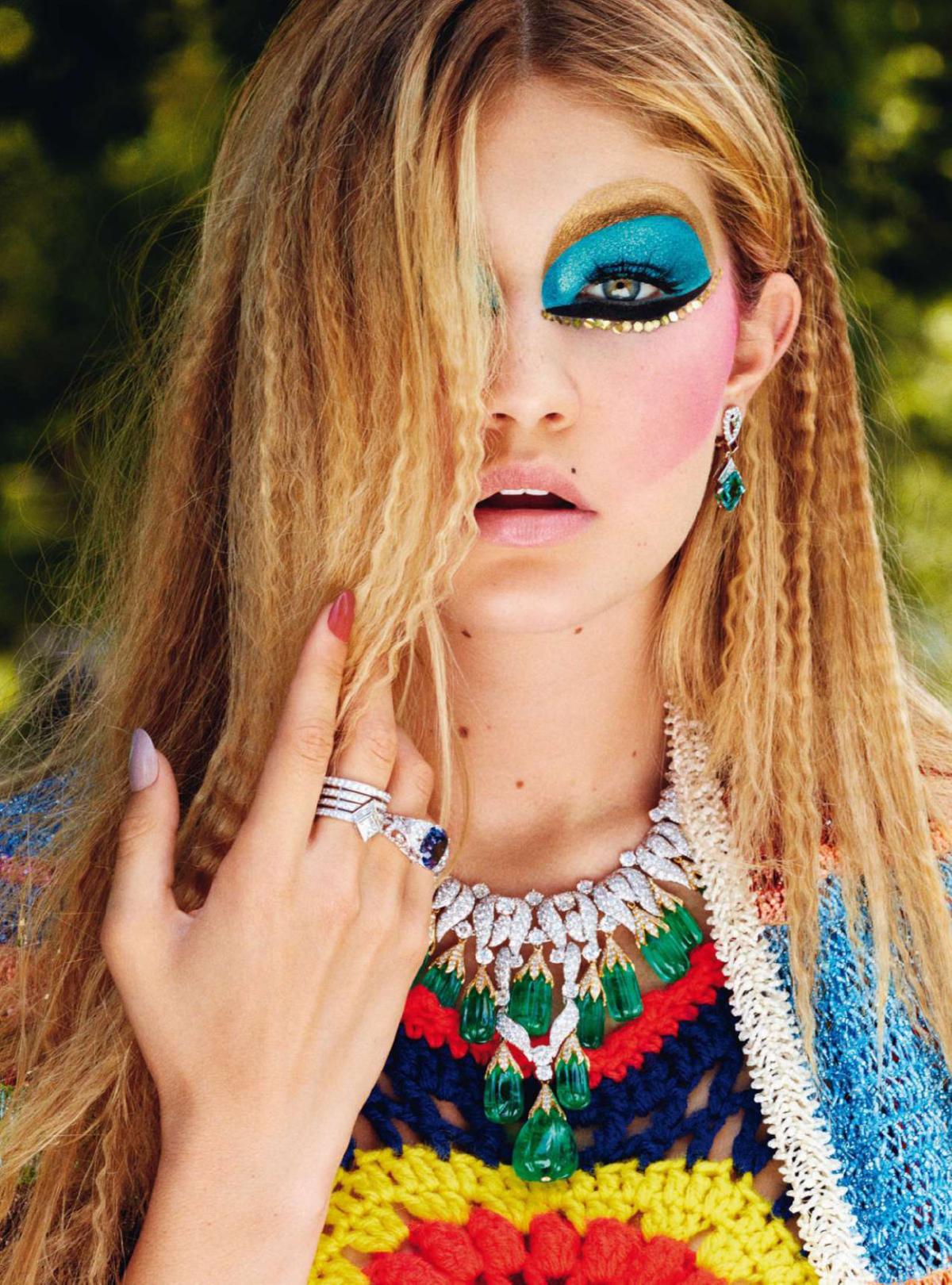 Gigi Hadid in 'Rare Gems' by Michael Avedon for Harper's Bazaar UK