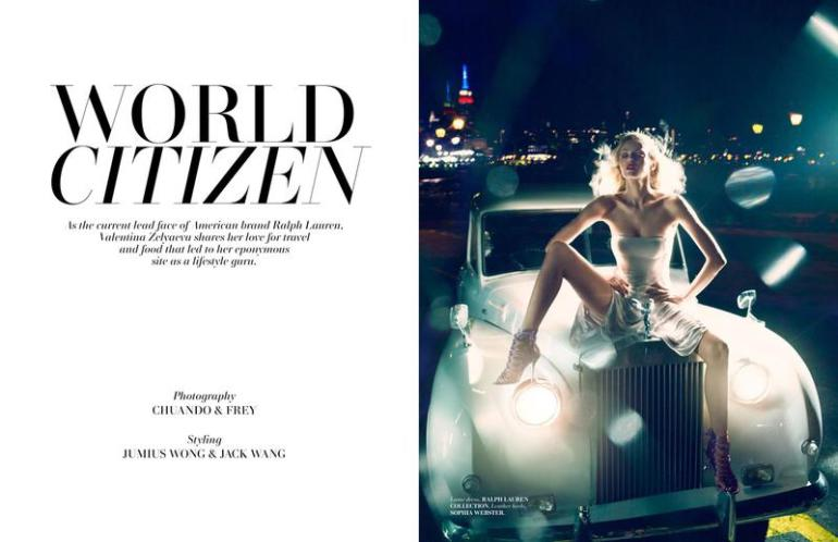 Valentina Zelyaeva In 'World Citizen' By ChuanDo & Frey For L'Officiel Singapore 02