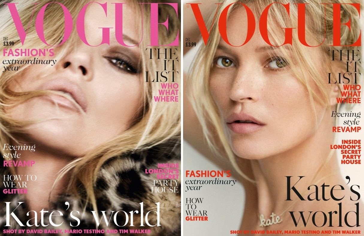 Kate Moss in 'Kate's World' by Mario Testino for Vogue UK, December 2014