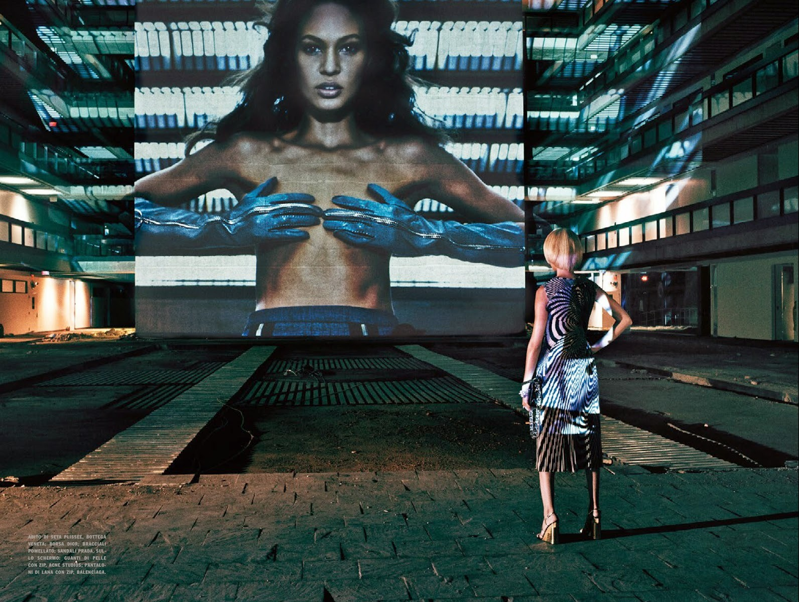 Joan Smalls in 'It's All About Gesture' by Steven Klein ...