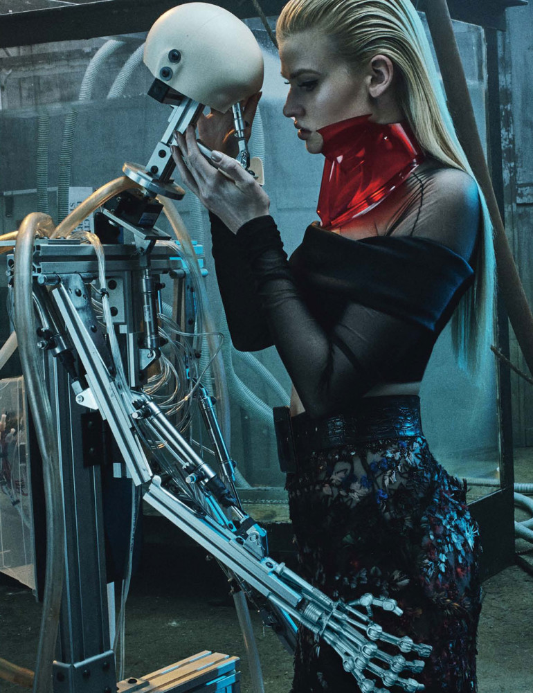 Lara Stone 'Love Machine' By Steven Klein For W 10