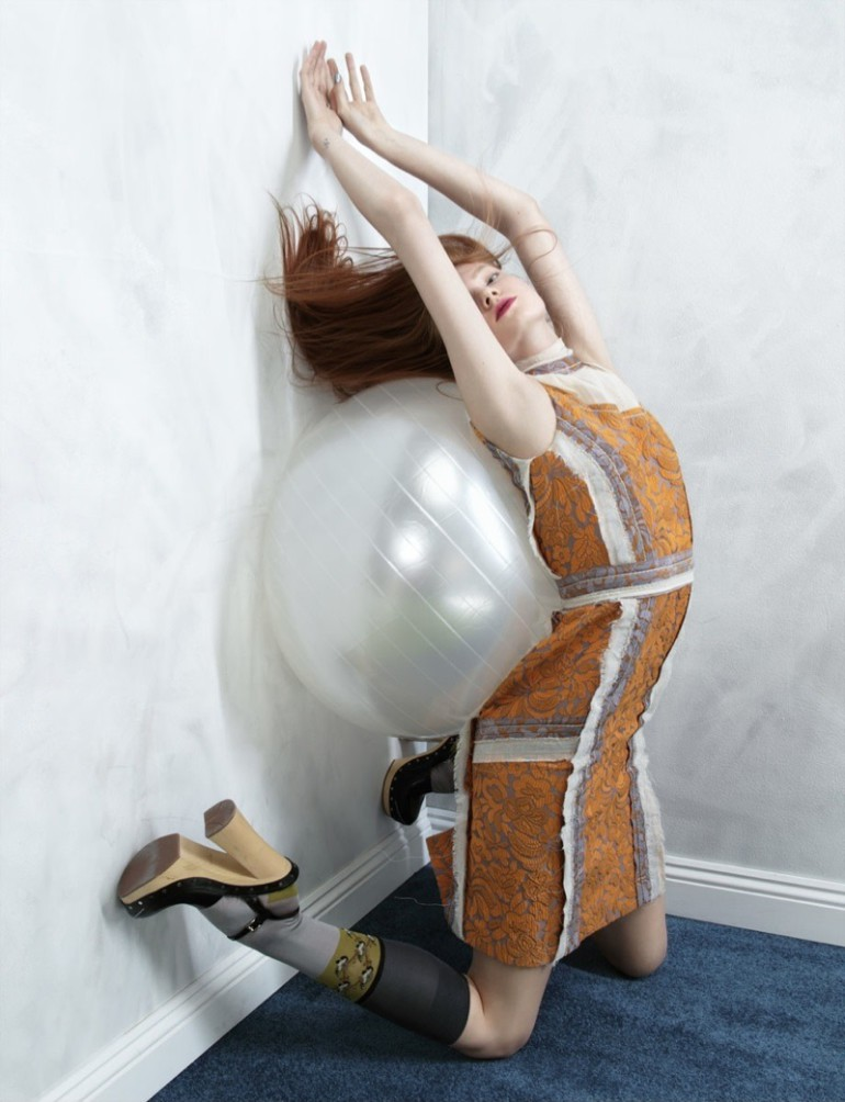 Anastasia Ivanova 'Defying Gravity' by Nikolay Biryukov Hunger Magazine 2