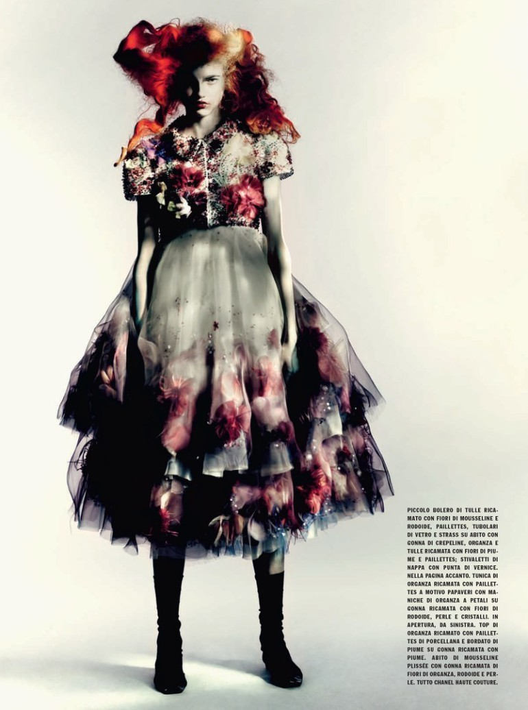 Molly Blair 'Full Bloom' Paolo Roversi for Vogue Italia 7