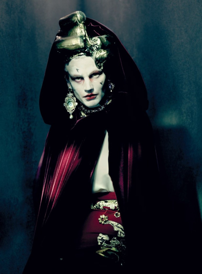 Saskia De Brauw by Paolo Roversi Vogue Italia Couture Supplement Issue 11